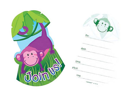 Jungle Animals Invitations (8 ct)