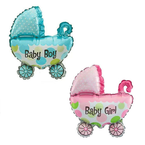 Baby Carriage Foil Balloon (click for more colors)
