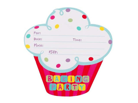 Baking Party Invitations (8 ct)