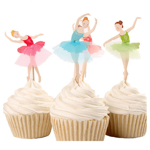 Dancing Ballerinas cupcake picks (12 ct)