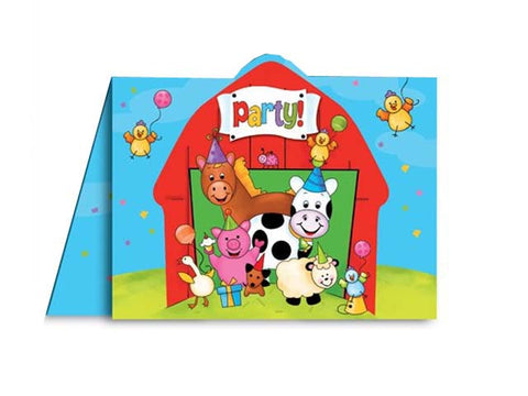 Barnyard Party Invitations (8 ct)