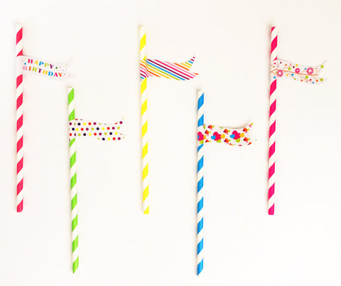 Birthday Paper Straws (25 ct)