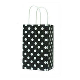 Polka Dot paper bags - 10 ct - with handles (click for more colors)