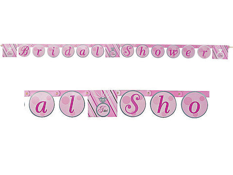 Bride 2 Be Dots Bridal Shower Jointed Banner
