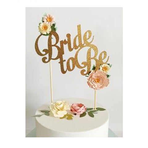 Bride to Be Glitter Cake Topper