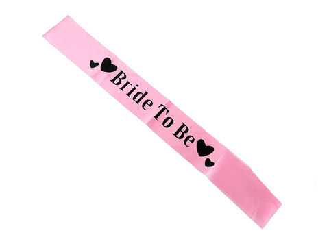 Bride to Be Sash (click for colors)