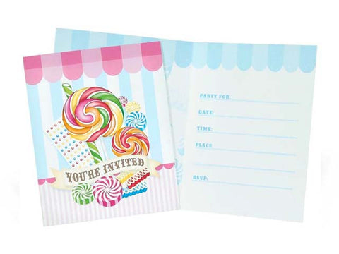 Candy Shoppe Invitations (8 ct)