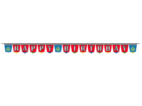 Disney Cars Birthday Plastic Banner