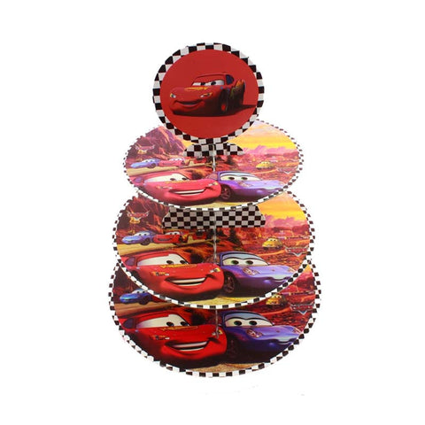 Disney Cars Tiered Cupcake Stand