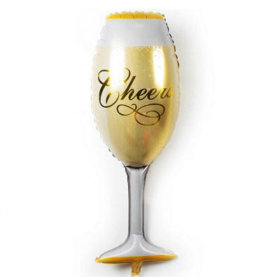 Cheers Champagne Glass Foil Balloon