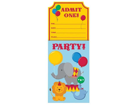 Circus Fun Invitations (8 ct)