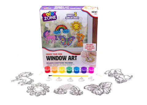 Color Zone Suncatcher Window Art Kit