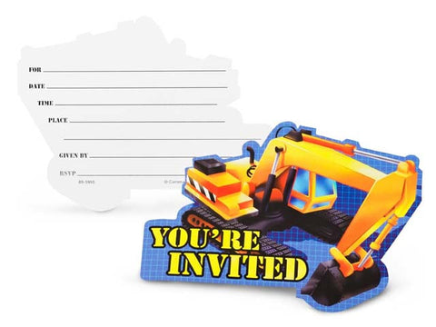 Construction Zone Invitations (8 ct)