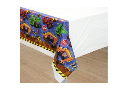 Construction Trucks Table Cover