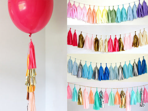 Mix and Match Tissue Tassel Garland Kit (click for more colors)