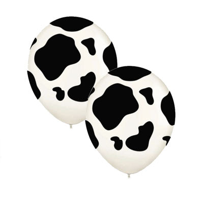 Cow Spots Latex Balloons