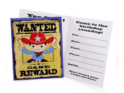 Cowboy Party Invitations (8 ct)