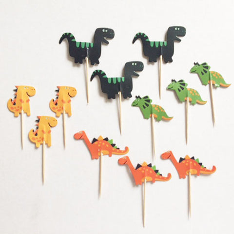Dino Fun cupcake picks (12 ct)