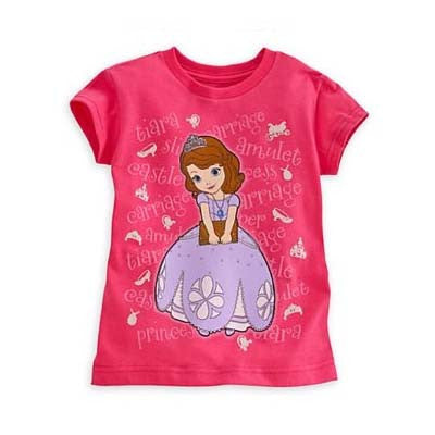 Sofia the First in coral pink tee