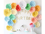 DIY Scallop Paper Flower - 16 inches (click for more colors)