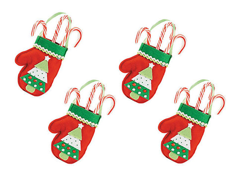 Felt Christmas Mitten Treat Bag Craft Kit (4 ct)