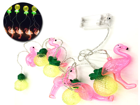 Flamingo and Pineapple String Lights Garland