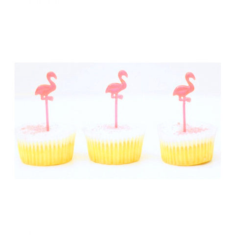 Neon Flamingo cupcake picks (24 ct)