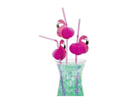 Flamingo Party Straws (12 ct)