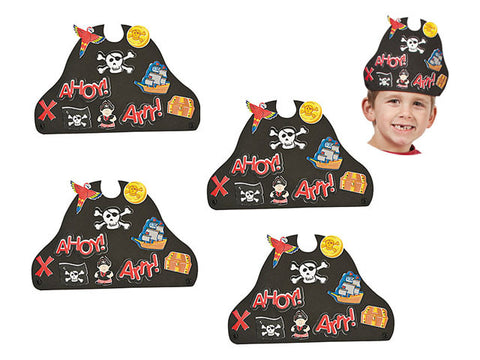 Foam Pirate Hat Craft Kit (4 ct)