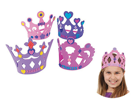 Princess Foam Tiaras (4 ct)