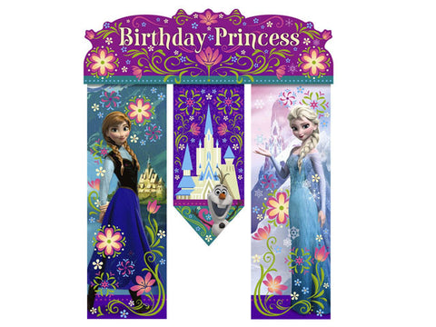 Frozen Birthday Princesss Banner