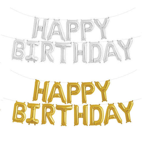 Hanging Happy Birthday Foil Balloon (click for more colors)