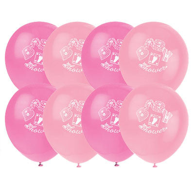 Girl Baby Shower Latex Balloons