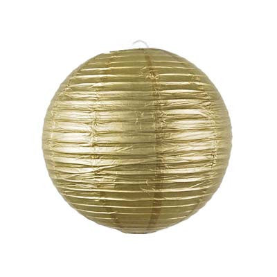 Metallic Round Paper Lanterns - 12 inches (click for more colors)