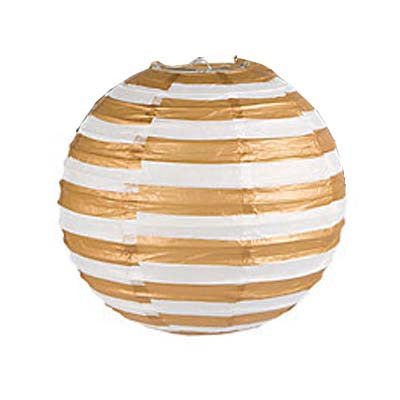 Stripes Round Paper Lantern - 12 inches (click for more colors)