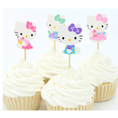 Hello Kitty cupcake picks (12 ct)