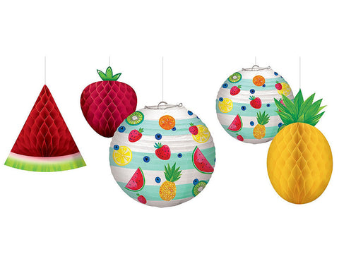 Hello Summer Fruits Hanging Decorations