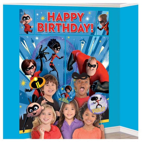 Incredibles 2 Birthday Scene Setter
