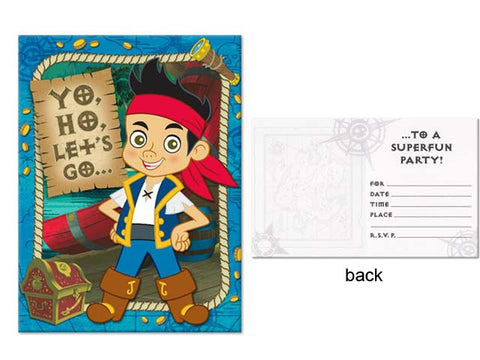 Jake and the Neverland Pirates Invitations (8 ct)