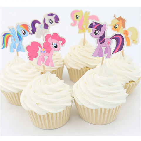 My Little Pony cupcake picks (12 ct)