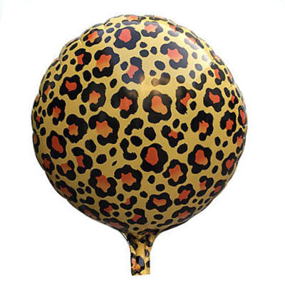 Leopard Print Round Foil Balloon - 18 inches