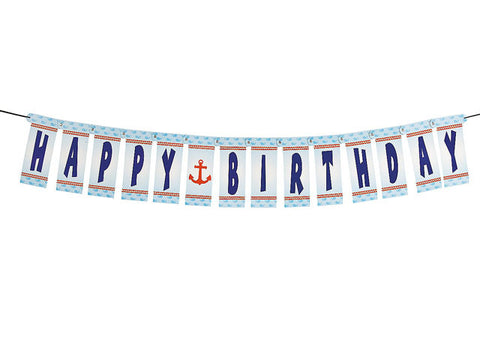 Nautical Birthday Jointed Banner