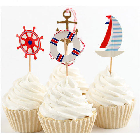 Sail Away cupcake picks (12 ct)