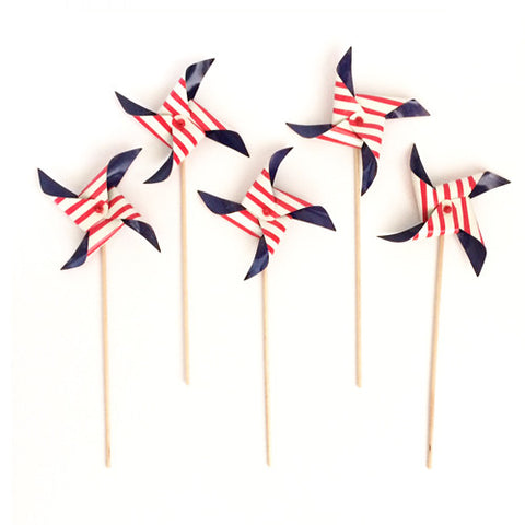 Nautical Pinwheel picks (5 ct)