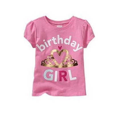 Pink Birthday Girl tee