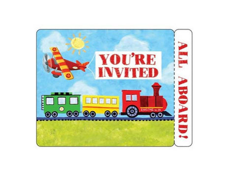 Transportation Invitations (8 ct)