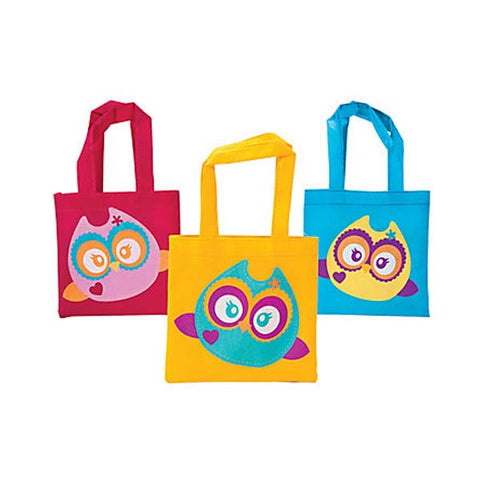 Owl Mini Tote Bags (8 ct)