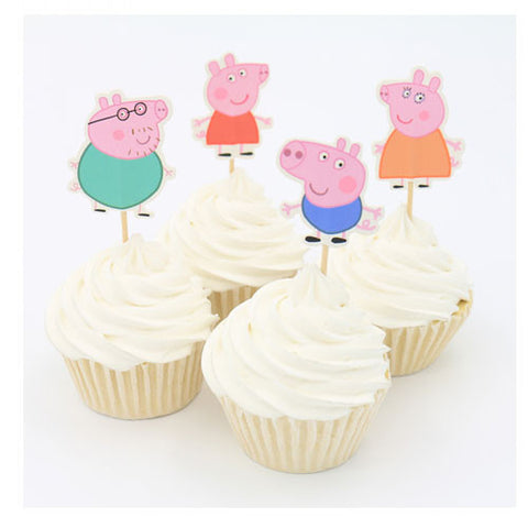 Peppa Pig cupcake picks (12 ct)