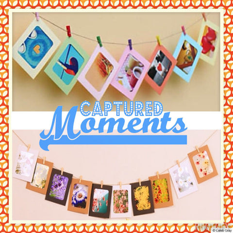 Clothesline Photo Frames Garland (click for more colors)