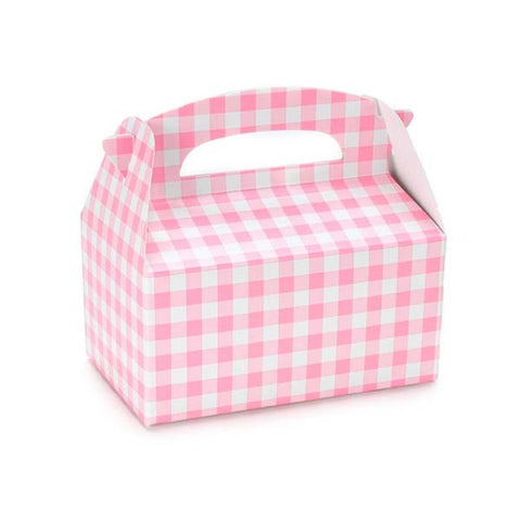 Pink Gingham Favor Box (8 ct)